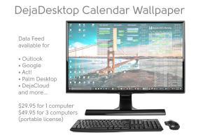 DejaDesktop Calendar Wallpaper