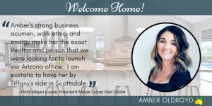 Meyer Lucas Real Estate welcomes Amber Oldroyd top Realtor in Phoenix area