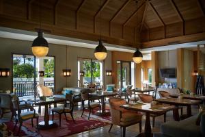 A cozy Club Lounge at The Ritz-Carlton, Bali