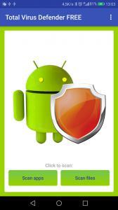 Total Antivirus Defender for Android - main screen