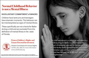 Normal Childhood Behavior is not a Mental Illness