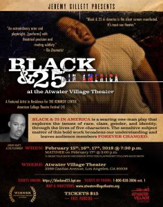 Live Show Poster Black & 25 in America