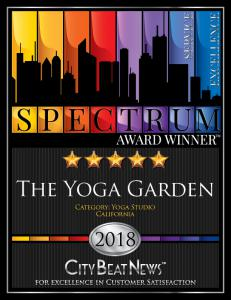 The Yoga Garden 2018 Spectrum Award