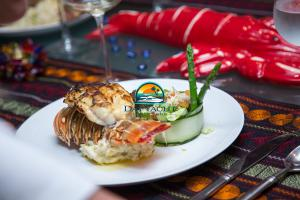 Lobster dinner on a luxury yacht chef