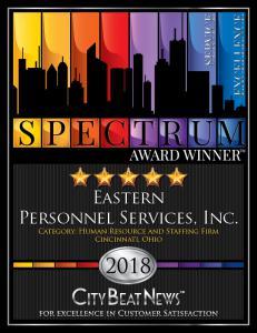 Eastern Personnel 2018 Spectrum Award Winner