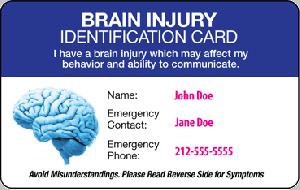 brain injury ID card - front