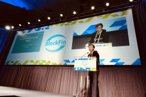 BitMart Founder & CEO Sheldon Xia speaking at LendIt Fintech USA 2018