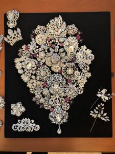 Glam Bouquet creates a unique and one of kind wedding bouquet