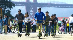 Electric Scooter Tours near the Golden Gate Bridge