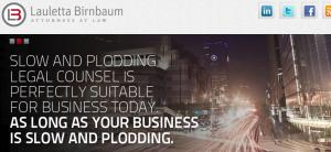 Website of Lauletta Birnbaum, Frank Lauletta, Partner