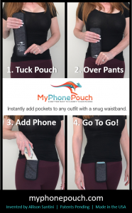 Instantly add pockets to your outfit with MyPhonePouch