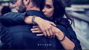 gray python and gray stingray bracelets