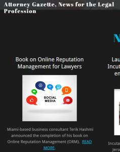 News about Terik Hashmi book in AttorneyGazette.com