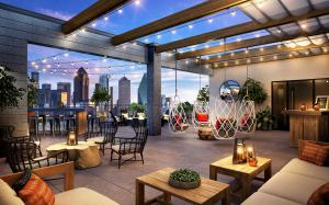 The Luminary offers dramatic views of the West End District, Downtown and Uptown, helping foster a creative work environment crucial to innovation.