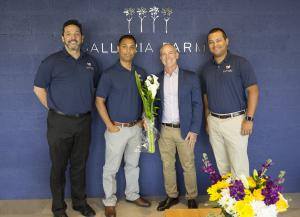 Ed Castillo, VP, Partner Success, Lovingly, Joe Vega, Co-Founder, Lovingly, Neil Gold, EVP Galleria Farms and Ken Garland, Co-Founder, Lovingly.