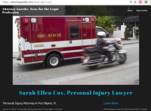 News about Sarah E Cox at AttorneyGazette