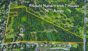 Aerial view of Prickett Nursery (Frank Lauletta, Attorney), picture originally on auction website, Max Spann Auctioneers