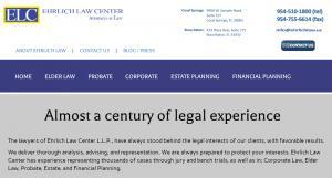 Website, Richard Ehrlich, Attorney in Florida