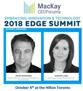 Keynote Speakers Include Peter Diamandis and Amanda Lang