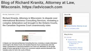 Blog of Attorney Richard A Kranitz in Wisconsin