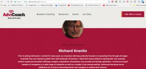 Profile of Richard A Kranitz on AdviCoach