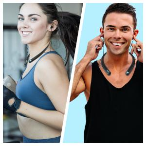MEVOFIT PLAY N100 SPORTS - Wireless Bluetooth Neckband Headphones > Sports Wireless Bluetooth Headphones with Mic, Extra Bass & Noise Reduction