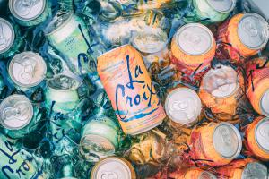 Cans of LaCroix sparking water, which is being sued for false claims.