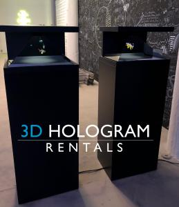 3D Hologram Rentals Double Display