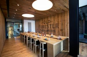 reSAWN's HERITAGE reclaimed wood at Old Foresty Distillery in Louisville, KY