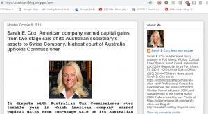 Sarah Ellen Cox, Attorney in Florida, Blog