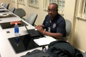 Michael J. Riley, Sr., at work in Haiti