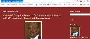 Blog of Michael J Riley Sr., Louisiana