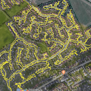 The business provides GPS reports showing the areas covered.