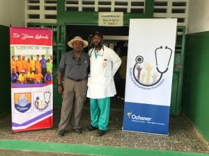 Michael J. Riley, Sr., at work in Haiti with Dr Laborde