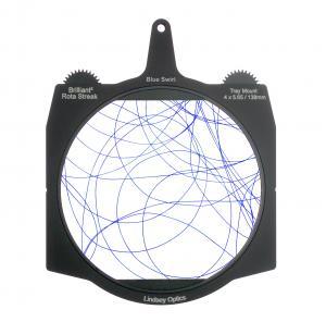 A rotating swirl streak filter that creates elliptical flares in a star pattern