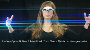 Made with Lindsey Optics Brilliant² Rota-Streak 2mm Clear Filter that fits in 4x5.65 matte boxes