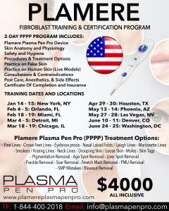 2019 USA Plamere Plasma Pen Training and Certification Program