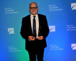 Dr. El-Ramly with his Large Business of the Year Award