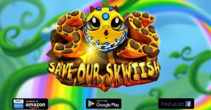Save Our Skwiish, Magical Match 3, Adventure, sweet , magical game, mobile game, Multiplayer match 3, munchkin, Farm heroes look alike, puzzle adventure,