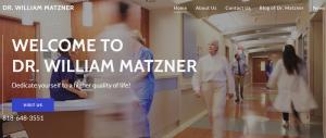 Website of Dr William Matzner California
