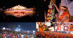 Sri Swamiji conducts united chanting for World Peace