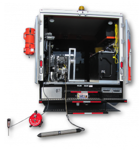 Electro Scan's patented machine-intelligent leak detection added to a standard CCTV truck.
