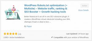 Better Robots.txt Wordpress plugin
