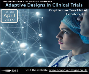 SMi's Adaptive Designs in Clinical Trials Conference 2019
