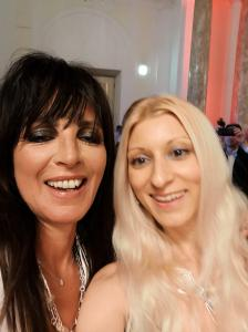 Singer NENA with Pop Art artist Tanja Playner