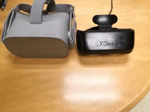 XGlass is much smaller and lighter than Oculus Go