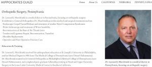 HippocratesGuild profile Dr Leonard Joseph Marchinski