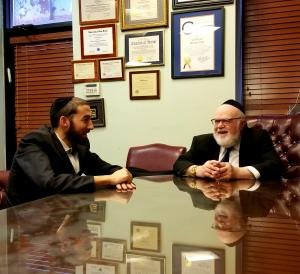 Assemblyman Simcha Eichenstein (left), Dr. Joshua Weinstein (right)