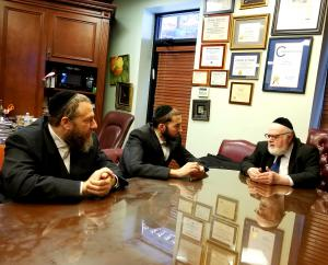 Mr. Ezra Friedlander (left), Assemblyman Simcha Eichenstein (center), Dr. Joshua Weinstein (right)