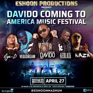 Coming to America Music Festival on April 27 at Anthem in Washington DC